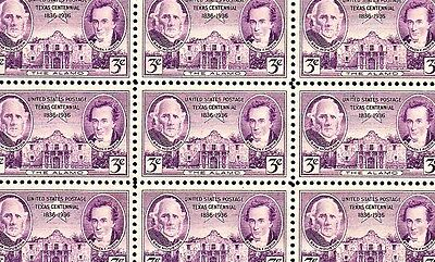1936 - TEXAS - ALAMO - #776 Full Mint -MNH- Sheet of 50 Postage Stamps