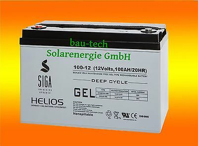 100ah 12v Helios Plomb Gel Deep Cycle- Piles