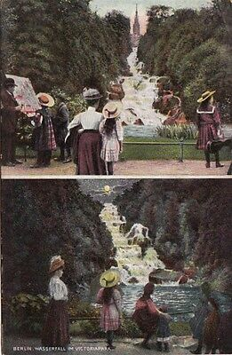 BERLIN - Germany - Vintage Postcard of a Park with People