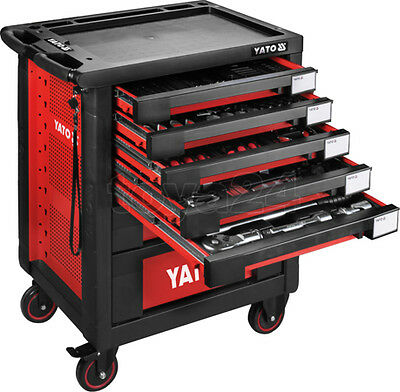 YATO PROFESSIONAL SERVICE GARAGE TOOL CABINET WITH TOOLS SET 165pcs YT-55293