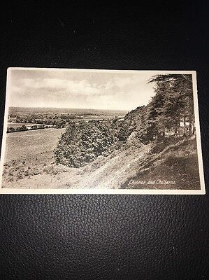 Antique Postcard Of Chinnor And Chiltens Oxfordshire 1941