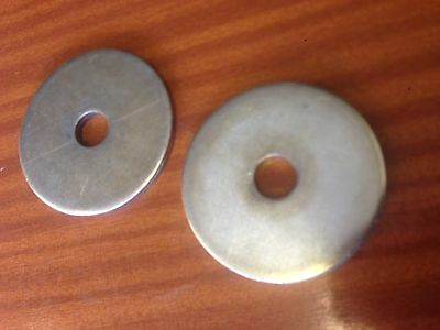 FIVE LARGE PLATED STEEL WASHERS M16 x 80mm x 6MM THICK!!