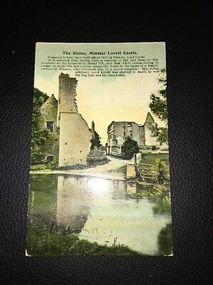 Antique Postcard Of The Ruins Minster Lovell Castle Oxfordshire