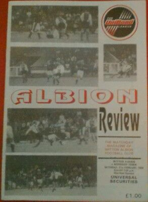 WITTON ALBION v WORKSOP TOWN.  21/2/1998
