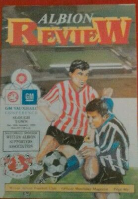 WITTON ALBION v SLOUGH TOWN.  25/1/1992