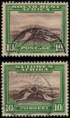 South West Africa #119a-119b Used VF