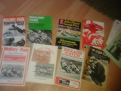 Motor cycle racing programme collection Hutchinson 100 Master of Mallory JP GP