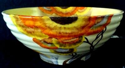 "Clarice Cliff  Large ""Rhodanthe"" 24 cm  Bowl"