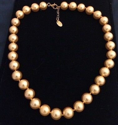 """IN WHITE CASE ~""""STAUER"""" 18"""" GOLDEN AUSTRALIAN PACIFIC PEARL 12mm Necklace"""