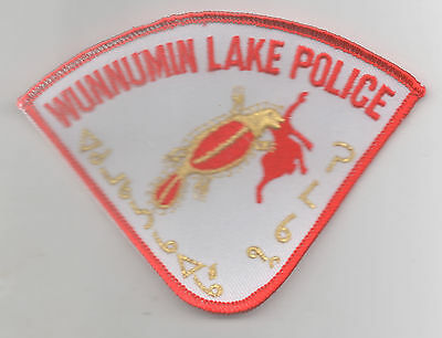 Canada First Nation Wunnumin Lake Police patch, Cree script