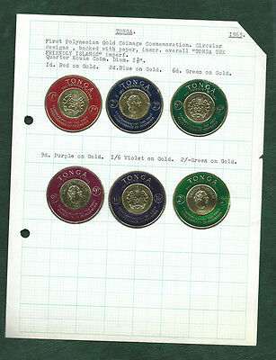 Tonga 1963 Polynesian gold coinage round issue stamps MH