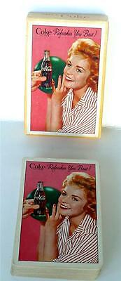 1961 Enjoy Coca Cola, BOWLING GIRL Deck Playing Cards, Jokers, Box.