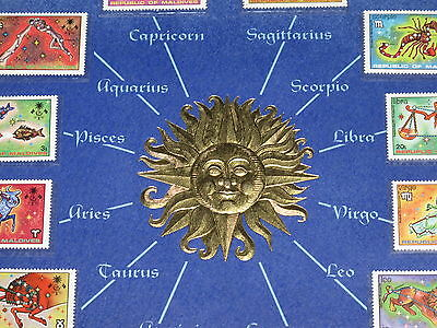 Signs Of The Zodiac Republic Maldives Stamps Collection Mountable Placard B6918