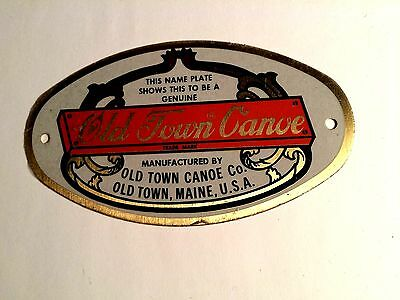 Old Town Canoe brass name plate New Old Stock