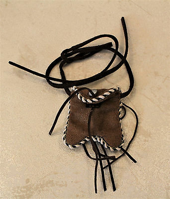 Tonto Native American 1:6 scale Belt Pouch faux suede fits 12in Ken doll figure