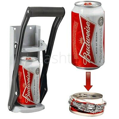 LARGE 16OZ BEER TIN CAN CRUSHER WALL MOUNTED RECYCLING TOOL BOTTLE OPENER 500ml