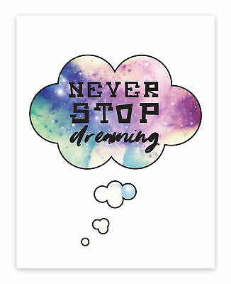 Children Inspire Design Never Stop Dreaming Paper Print