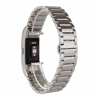 Xmas Sale Silver Luxury Stainless Steel Strap Watch Band For Fitbit Charge 2 UK
