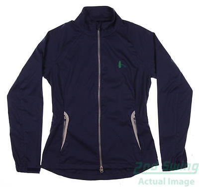 New W/ Logo Womens Zero Restriction Golf Wind Jacket Small S Navy Blue MSRP $170