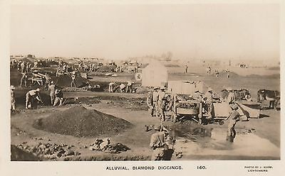 South Africa GRASFONTEIN Alluvial Diamond Diggings real photo postcard c1927