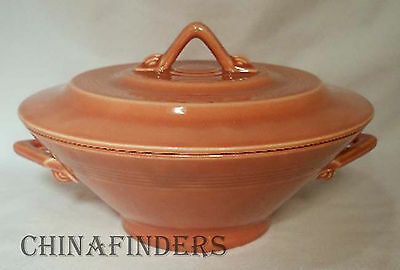 HOMER LAUGHLIN china HARLEQUIN Rose ROUND COVERED VEGETABLE Bowl Casserole