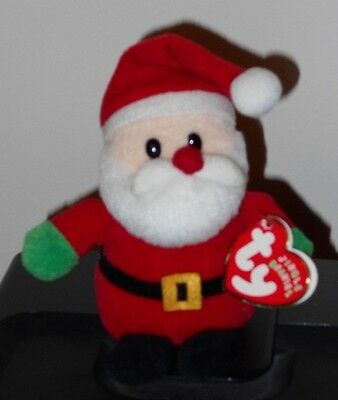 Ty Jingle Beanie Baby - SANTA (2008 Version) (5 inch) - MINT with MINT TAGS