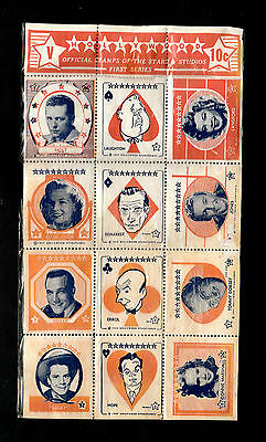 "Hollywood Interesting ( Film Stars ) ""v"" Official Stamps Of The Stars & Studios"