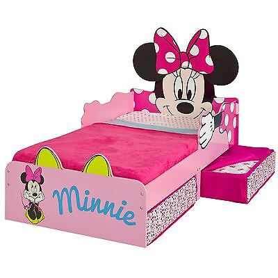 Minnie Mouse Mdf Junior Toddler Bed With Storage New Disney