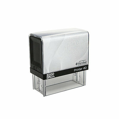 Printer 40 (Ideal 200 Size 2000+ ) Up to 6 Line Return Address Self Inking Stamp