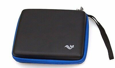 Nintendo 2DS BLACK + BLUE Butterfox Quality Carry Case * NEW