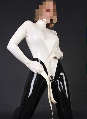 498 Latex Rubber Gummi Catsuit gloves binder customized clothing 0.4mm suit cool