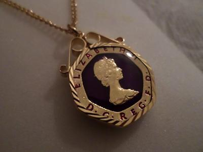 Vintage Enamelled 20 Pence Coin 1985 Pendant & Necklace. Birthday Xmas Present