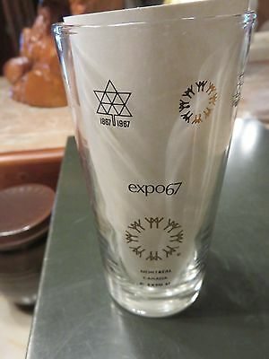 Montreal Canada Expo 67 Coctail Glass Grand Bretagne Britain Worlds Fair 1967