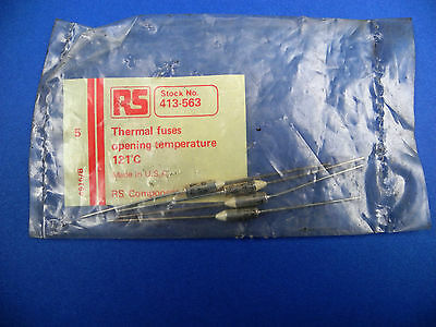 RS THERMAL FUSES 228'C 141'C 121'C OPENING TEMPERATURE Axial Thermal Fuses
