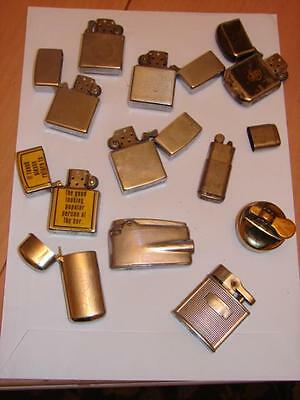 10 Vintage Petrol  Wick Cigarette & Gas Lighters Untested Need Attention Zippo