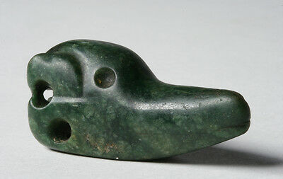 Pre-Columbian Jade Atlatl Weight / Olmec Culture - 1200 to 400 B.C.