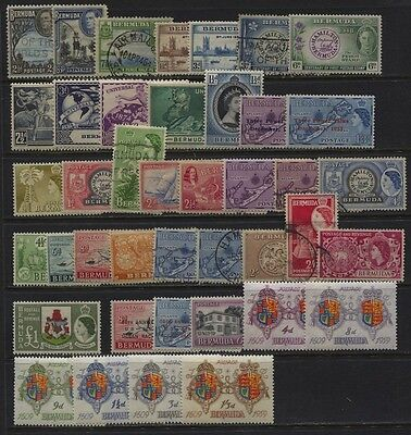 Bermuda 1941 - 1959 MH / Used Selection, Values to £1 CV $50.70