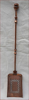 Victorian Fireplace Tools Shovel Cut Copper Plate Iron England Late 19th C