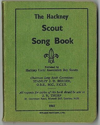 Vintage 1961: The Hackney Scout Song Book: Boy Scouts: Inc Ww1 Ww2 Memorial