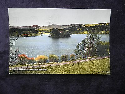 VINTAGE 1960s SCOTTISH POSTCARD OF CLUNIE LOCH AND CASTLE, BLAIRGOWRIE