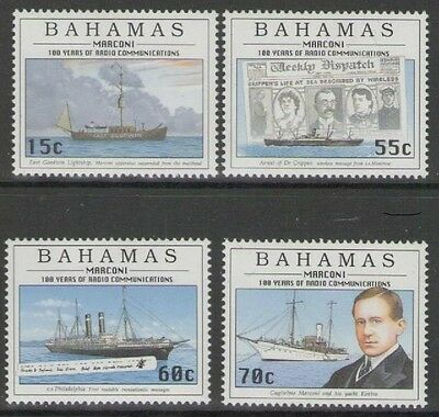 Bahamas Sg1074/7 1996 Centenary Of Radio Mnh