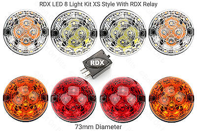 RDX LED Land Rover Defender 8 Light Kit XS Style with Relay