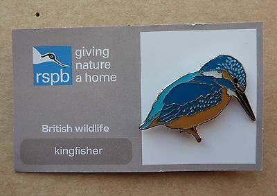 Rspb Pin Badge Kingfisher  Giving A Nature Home  And British Wildlife