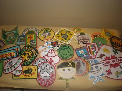 40 Cub Scouts Canada patches, 1990s, excellent condition