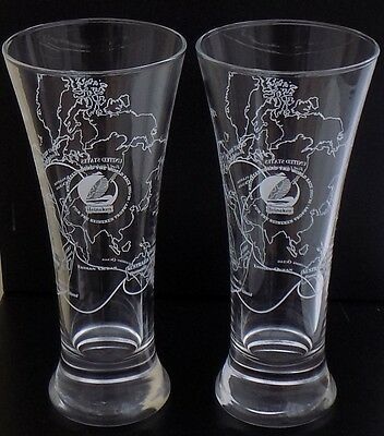 Rare! Two Whitbread Round The World Race 1993/94 Tapered Advertising Glasses VGC
