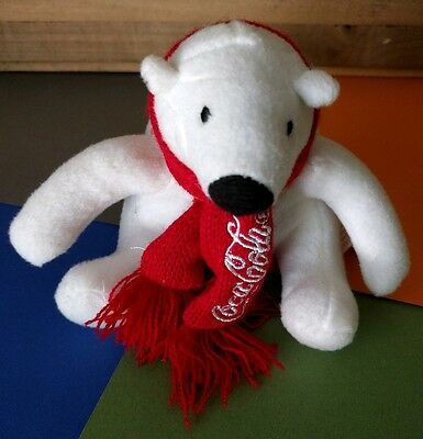 "Coca Cola Polar Bear 4"" Plush - Scarf - Free Shipping"