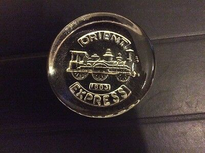 Vintage Orient Express Limited Edition Dartington Crystal Glass Paper Weight