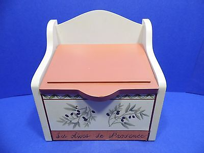Recipe Box Holder Les Olives Wooden Decorative Hold 3 X 5 Cards