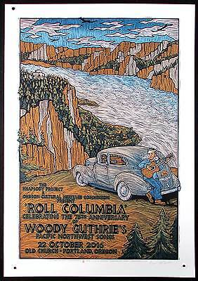Woody Guthrie Poster Roll Columbia His Pacific NW Songs 75 Anniversary G Houston