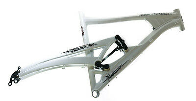 "15.5"" MARIN 26"" Wolf Ridge Quad Trail Full Suspension MTB Frame White NOS NEW"